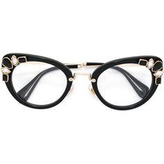 70962705b23 Miu Miu Eyewear cat eye glasses ( 452) ❤ liked on Polyvore featuring  accessories