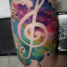 Beautiful watercolor style with musical influence!