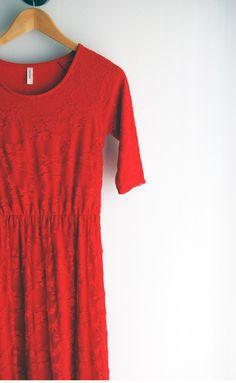 Red Lace Dress Midi dress