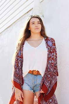 c65eb53a7f15 Shop the Look from Daily Joy on ShopStyleFree People kimono. Cute Beach  OutfitsBeach Outfit ...