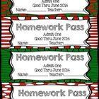 FREE Christmas Homework Passes | Teaching | Pinterest | Frees ...