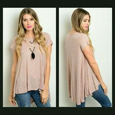 Coming Soon! This adorable boho inspired tee features a high low design. A great staple to anyone's wardrobe.   If unsure of what size to order, just ask and I can provide measurements!  Material: 94% rayon 6% spandex   No trades  ✔Reasonable offers considered Tops Tees - Short Sleeve