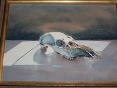 Skull Painting by Unknown Artist #Impressionism