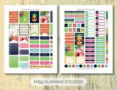 50% OFF SALE // Pineapple Summer weekly Kit by missplannerstickers