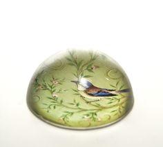 fermacarte in vetro. diametro cm.7