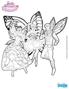 Coloriage Barbie Le Prince Carlos Willa Et Catania