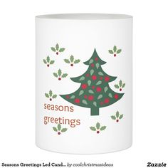 Shop Seasons Greetings Led Candle created by coolchristmasideas. Flameless Candles, Led Candles, Invite Your Friends, Festive, Christmas Gifts, Stationery, Invitations, Events, Messages