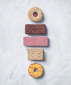 Biscuits in a line - joelpenkman