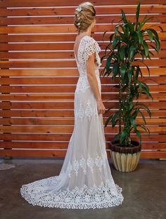 Azalea-off-white-cotton-lace-romantic-boho-wedding-dress
