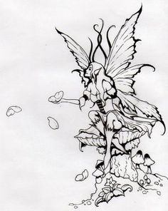 Fairy Tattoo Art Designs | Fairy Tattoo 1 3 From Flying Fairies With Their Wings - kootation.com