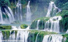 Ban Gioc Waterfall, on the China/Vietnam border