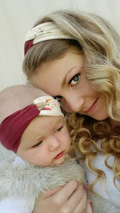 Mommy and me headbands at www.youresewtulle.com  headbands, baby, mom, fashion.