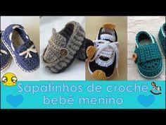 Baby Sandals, Bare Foot Sandals, Baby Booties, Crochet Blanket Patterns, Baby Blanket Crochet, Crochet Art, Free Crochet, Crochet Baby Shoes, Crochet Videos