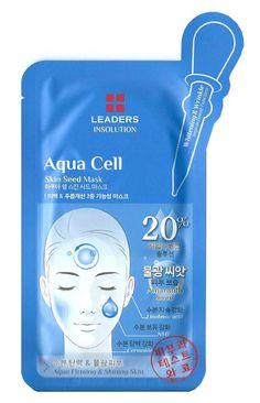 Leaders Insolution Aqua Cell Skin Care Seed Masks Facial Moisturising 10 Sheets #Leaders