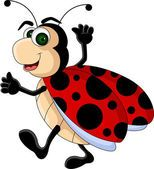 Illustration about Vector illustration of funny Ladybug cartoon. Illustration of decorate, shape, icon - 27048202 Ladybug Cartoon, Ladybug Art, Cartoon Wall, Cute Cartoon, Coloring Pages For Boys, Clip Art Pictures, Funny Photography, Bullet Journal Art, Illustrations