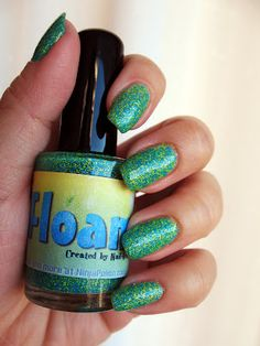 Nail-Venturous Floam - blue and yellow matte glitter. Click the image for more!