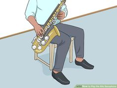 How to Play the Alto Saxophone (with Pictures) - wikiHow Saxophone Sheet Music, Major Scale, Smooth Jazz, Gibson Les Paul, Custom Guitars, Book Boyfriends, Van Halen, Indie Music, Historical Romance