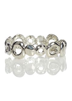 A stylish and unique pick for adding some glam to your look. This bracelet features metallic beads to create an intriguing shape. Wear with matching silver-coloured jewels and a bright scarf to complete your outfit.  Features: - Gorgeous silver look - Chunky statement piece  We accept PayPal      a{font-weight: bold; font-variant: normal; line-height: normal;}