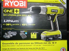 Ryobi ONE+ 18-Volt Drill Kit Review & Giveaway 3/8/13 Daily US  http://wp.me/p2Zbi5-gh