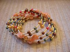 Coral Bracelet by luckyblacksheep on Etsy, $13.00