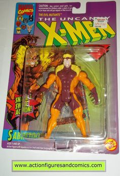 Toy Biz marvel universe X-MEN / X-FORCE series action figures 1993 / 1994 SABRETOOTH NEW - still factory sealed in the original package figure condition: excellent - never removed, retaining the origi
