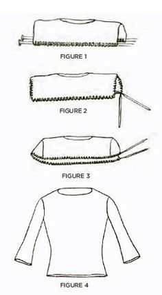 Knitting a top-down sweater with set-in sleeves