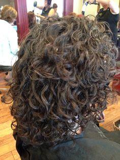 Deva curl hair cut I like the length and shape.