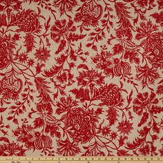 Red Ananya Home Decor Fabric