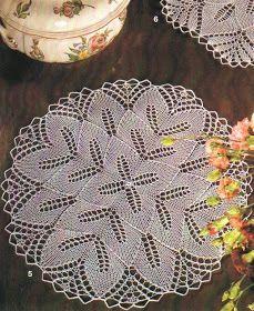 Kira knitting: Scheme knitted tablecloths 11