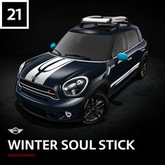 This manual MINI is equipped with a 6 speed transmission and everything it needs to motor through the longest night of the year. #DeckTheMINI