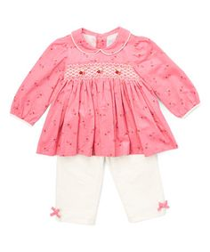Love this Pink Smocked Top & Ivory Leggings - Infant & Toddler on…