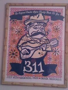 Old Autographed 311 poster