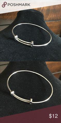 10eab1565d59 New Swarovski silver crystal half bangle with box Boutique
