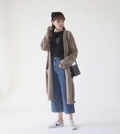 10's trendy style maker en.66girls.com! Long Rib Accent Cardigan (DGFS) #66girls #kstyle #kfashion #koreanfashion #girlsfashion #teenagegirls #fashionablegirls #dailyoutfit #trendylook #globalshopping