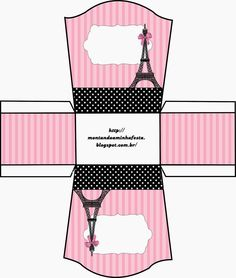 This is an open box. You can use it for chocolates, small cakes or candies, for example. Printable Box, Barbie Birthday, Barbie Party, Paris Themed Birthday Party, Birthday Party Themes, Party Printables, Free Printables, Paper Box Template, Diy Doll