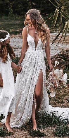 Cute Wedding Dress, Wedding Dress Trends, Best Wedding Dresses, Bridal Dresses, Wedding Ideas, Rustic Wedding Dresses, Prom Dresses, Boho Beach Wedding Dress, White Lace Wedding Dress