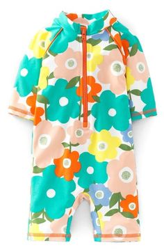 Mini Boden One-Piece Rashguard Swimsuit (Baby Girls & Toddler Girls) available at #Nordstrom