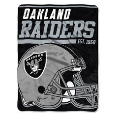 Oakland Raiders Blanket 46x60 Raschel 40 Yard Dash Design Rolled