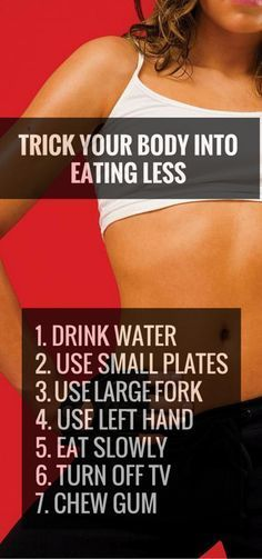 Helpful tricks to eat less during the day. #weightloss #healthy #fitness http://lindseyreviews.com/10-ways-to-trick-your-body-into-eating-less/