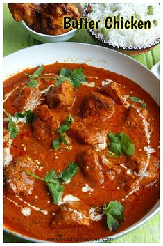 Restaurant style Butter chicken Indian Food Recipes, Asian Recipes, Ethnic Recipes, Chicken Tikka Masala, Butter Chicken, Curries, Easy Chicken Recipes, Beverage, Restaurant