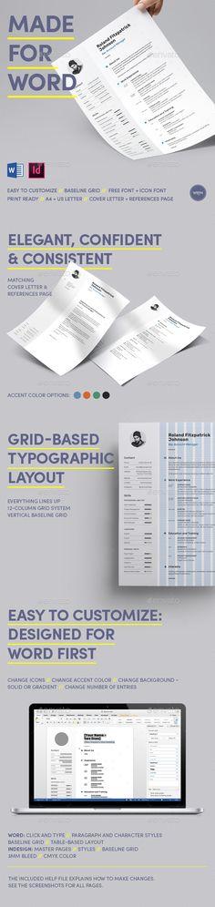 Resume Word Resume words, Cv template and Modern resume - word resumes