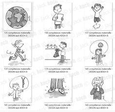 Un pack de 250 dessins pour le cahier de réussite maternelle avec l'ensemble des compétences. Petite Section, Pass Education, Speech Activities, The Wiz, Preschool, Images, Puzzle, Bullet Journal, Illustrations