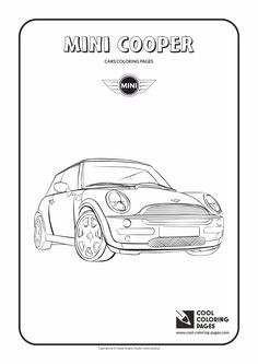 mini cooper panel coloring pages - photo#14