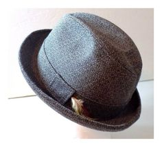 1950s Towncraft Fedora Hat Medium Grey by TimeEnoughAtLast on Etsy