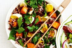 Brighten up summer days with this vibrant rice, cranberry and sweet potato salad.