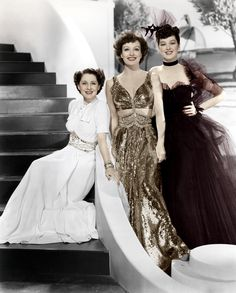 Joan Crawford, Norma Shearer and Rosalind Russell - The Women - 1939  Lord this film. Description from pinterest.com. I searched for this on bing.com/images