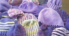 www.clickforbabies.org Knit and crochet Period of Purple Crying hats to raise awareness about Shaken Baby Syndrome. Website includes patterns and ways to get involved.