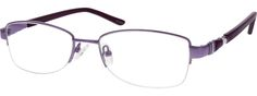 $19 Order online, women's purple half rim metal rectangle eyeglass frames model #658117. Visit Zenni Optical today to browse our collection of glasses and sunglasses.