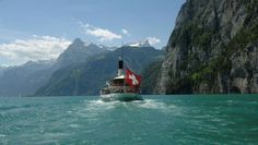 Dampfschiff auf dem Urnersee,Schweiz Switzerland, Mount Everest, Mountains, Nature, Travel, Steam Boats, Swiss Guard, Ships, Voyage