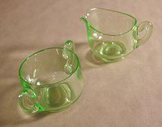 Vintage Green Uranium Vaseline Depression by KitschyKitschyYAYAYE